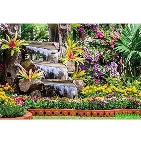 Fondos de fotografía escénica de árboles de Pradera de jardín de Primavera Natural Fondos fotográficos Personalizados para Estudio fotográfico A17 2,7x1,8 m