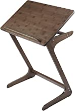 """Sofa Table TV Tray, NNEWVANTE Couch Sofa End Table Laptop Desk Bamboo Coffee Table Side Table Snack Tray for Eating Writing Reading Living Room Modern Furniture 26.6""""× 15.7""""(Walnut)"""