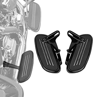 Passenger Floorboards Floor Boards with Mount Bracket Kits for Touring Road King Street Glide 1993-2019 Footboards Black