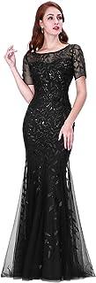 Ever-Pretty Women`s Illusion Embroidery Elegant Mermaid Evening Dress 07707