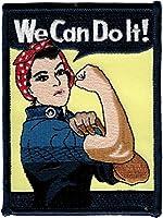 私たちはそれを可能にします。 Rosie the Riveter 4インチ 刺繍ワッペン