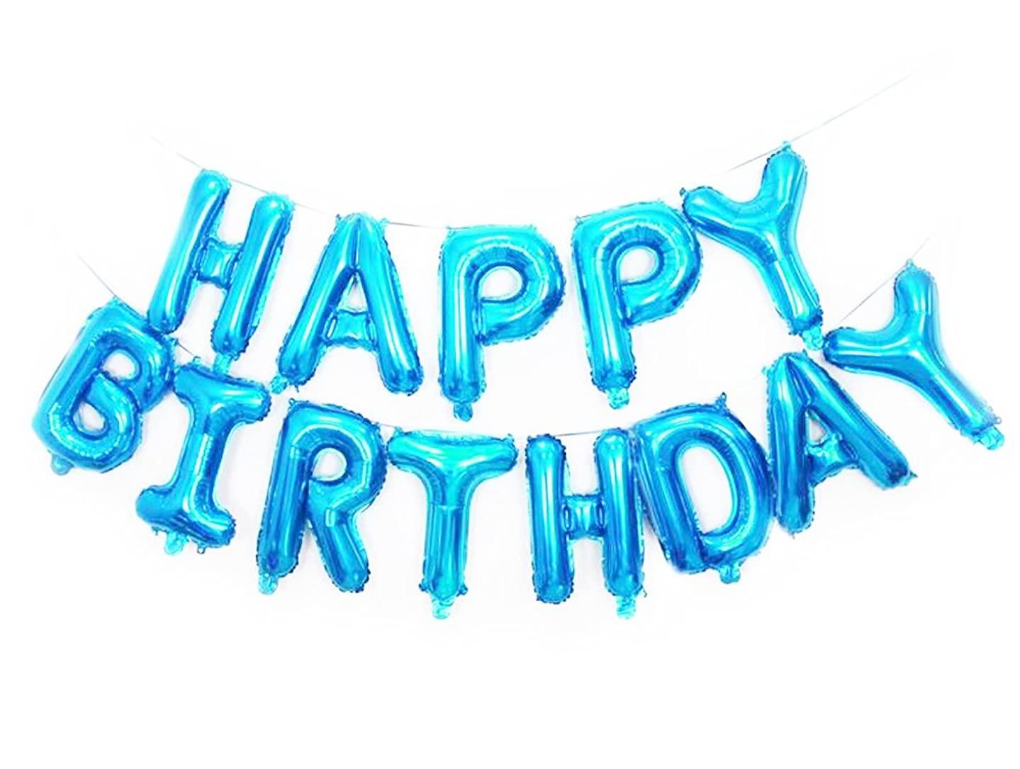 SGODA Happy Birthday Foil Balloons Letters Balloon Blue