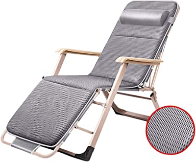 Amazon.com: DQCHAIR Lawn Chairs Reclining for Heavy People ...