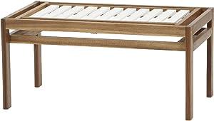 Siena Mybalconia 989864 Modular 2-Sitzer Gestell Akazie FSC® 100% geölt Flächen Akazie FSC® 100% weiß lackiert Beschläge aus galvanisiertem Stahl