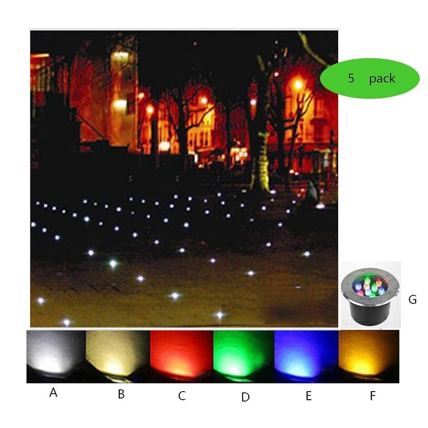 劣る動機付ける問い合わせるAMDHZ 落地灯 LEDデッキライト防水IP65 220V省エネ芝生パティオ埋め込み、7色、9パワー、5パック (Color : D, Size : 3W)