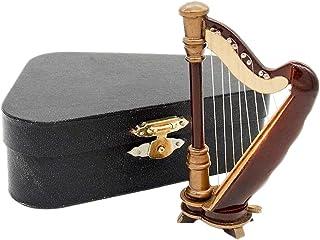 Odoria 1/12 Miniatura Arpa de Madera con Caso Instrumento