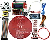 [Sintron] Kossel Mini Electronic Full Kit for DIY RepRap Rostock Delta 3D Drucker Printer with Bowden hotend + MK8 Extruder + RAMPS 1.4 + LCD2004 + MEGA 2560 + A4988 + NEMA 17 Motor + Endstop + Round Aluminum MK3 heatbed + Filament