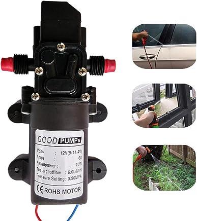 Zology Bomba de Agua de Diafragma Autocebante de Alta Presión Para Lavado de Autos Limpieza de