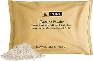 L-Tyrosine Powder (8 oz, ½ TSP per Serving) by Pure, 100% Pure, Stress & Anxiety*, Alertness & Focus*, Increase Mood & Ene...
