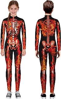 ◆◇ HebeTop◇◆ Halloween Costume for Teen Kids Girls&Boys 3D Skeleton Costumes Cosplay Jumpsuit Rompers(7T-14T)