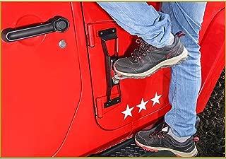 Doorstep del Coche Enganchado En Las Clavijas del Pie De Jeep Acceso En La Azotea del Coche con El Martillo De La Seguridad para El SUV del Coche,Silver,2Pcs