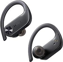 Wireless Earbuds with Earhooks, Dudios IPX7 Waterproof Sports Headphones 56 Hours Playtime, in Ear/Deep Bass/Built-in Micr...