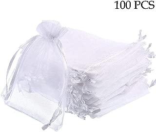 HooAMI/® 25pcs//100pcs Sachets Pochettes Rond Cadeau en Organza pour Bijoux Cadeaux Bonbons Marriage
