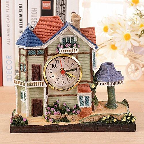 ONZ gebouw huis wekker creatieve villa hars ambachtelijke ornamenten student geschenken B