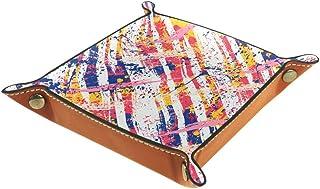 Panier de rangement carré 20,5 × 20,5 cm, avec coups de pinceau à carreaux gras pour traversée sauvage, boîte de rangement...