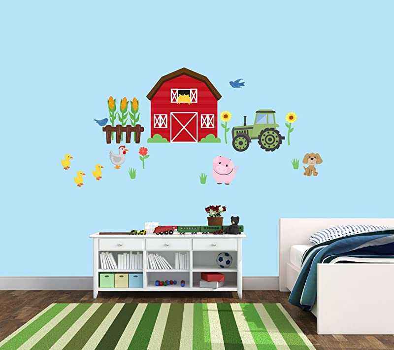 Barn Wall Decal Farm Wall Decal For Little Kids Nursery Farm Animal Stickers