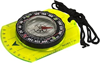 UST Hi Vis Waypoint Map Compass with Fluorescent Plate and Magnifier for Hiking, Camping, Backpacking, Emergency and Outdo...
