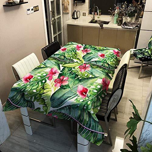 Motif géométrique Papillon et Nappe végétale décoration rectangulaire Nappe de Table à la Maison Anti-poussière A32 140x200cm