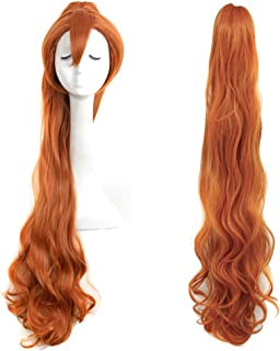 Yuehong Brown Long Fashion Natural Braided Wig Thumbelina Wig Full Curly Wig Cosplay Wigs Party Wig