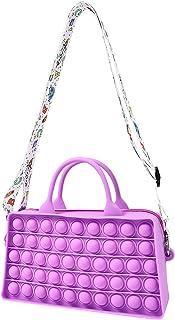 VTRZ Pop Fidget Toys It Crossbody Purse Bags for Women Girls, Push Bubble Fidget Sensory Toys Crossbody Handbag Shoulder B...