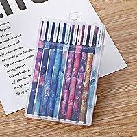 SENRISE 10 bolígrafos de tinta de gel coloridos, bonitos artículos de papelería Kawaii para estudiantes, suministros escolares, coloridos subrayadores, 10 bolígrafos, 10 colores