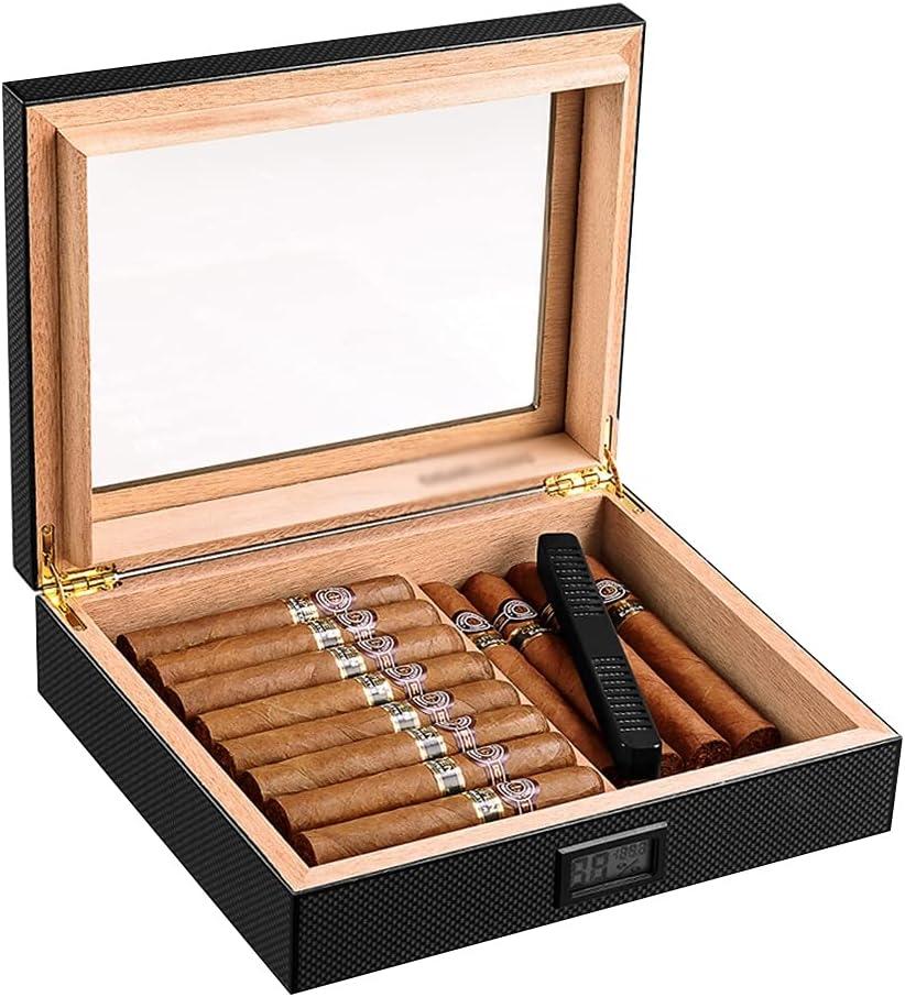 Max 88% OFF Humidors Cigar Hygrometer Humidifier Trans Metal 4 years warranty Hinge 90°