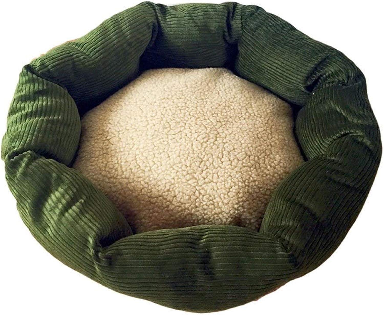 BHDYHM Comfortable autumn and winter warm pet bed pet supplies Cat nest four seasons pet bed (Size   Diameter 70cm)