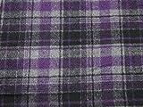 Polyester & Wolle Plaid kariert Beschichtung Kleid Stoff
