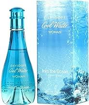 Cool Water Into The Ocean By DAVIDOFF FOR WOMEN 3.4 oz Eau De Toilette Spray