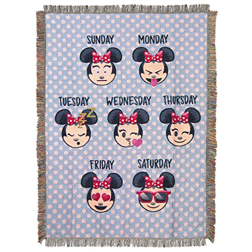 Disney's Emoji Minnie Mouse Blanket