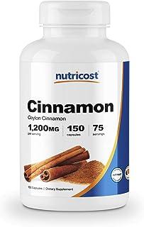 Nutricost Cinnamon (Ceylon Cinnamon) 1,200mg Serving, 150 Capsules - Gluten Free, Non-GMO