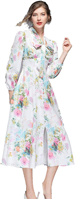 Ilovgirl Women 2019 New Floral Print Maxi Party Wedding Guest Prom Dresses