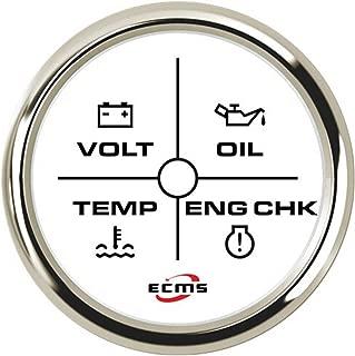 MCM-GPS Speedometer Durable 4LED Engine Alarm Gauge Meter 2(52mm) 12V/24V Mutiple Backlight Lightweight