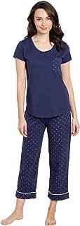 PajamaGram Pajamas for Women Cotton - Womens Capri Pajama Sets