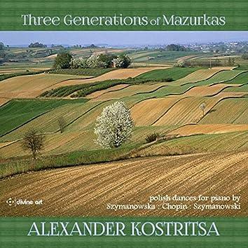 Three Generations of Mazurkas