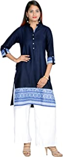 Prateek Exports Women's Rayon Printed Kurti With Palazzo for Daily Wear