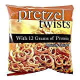 Pretzel Protein Twists | 7 Bags | Low Fat, Low Carb, KETO Diet Friendly, Low Calorie Diet Snack from Robard