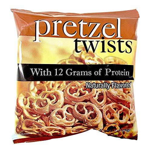 Pretzel Protein Twists | 7 Bags | Low Fat, Low Carb, KETO Diet Friendly, Low Calorie Diet Snack