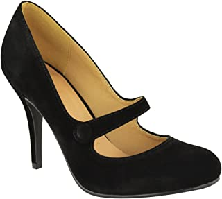 Fashion Thirsty Womens Low Mid High Heel Ankle Strap Court Shoes Work Pumps Sandals