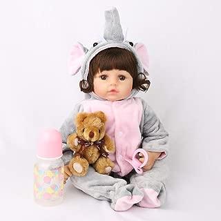 CHAREX Realistic Reborn Baby Dolls 18 inches, Lifelike Handmade Newborn Girl Weighted Baby Girl Toy Gift Set