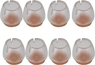 Stuhl-Fu/ß-Kappen Alicer 8Pcs Silikon Stuhl Bein Caps F/ü/ße Pads M/öbel Table Covers Boden Protektoren,transparente Gummitabellen-Stuhl-M/öbel-Bein-Abdeckungen-Boden-Schutz