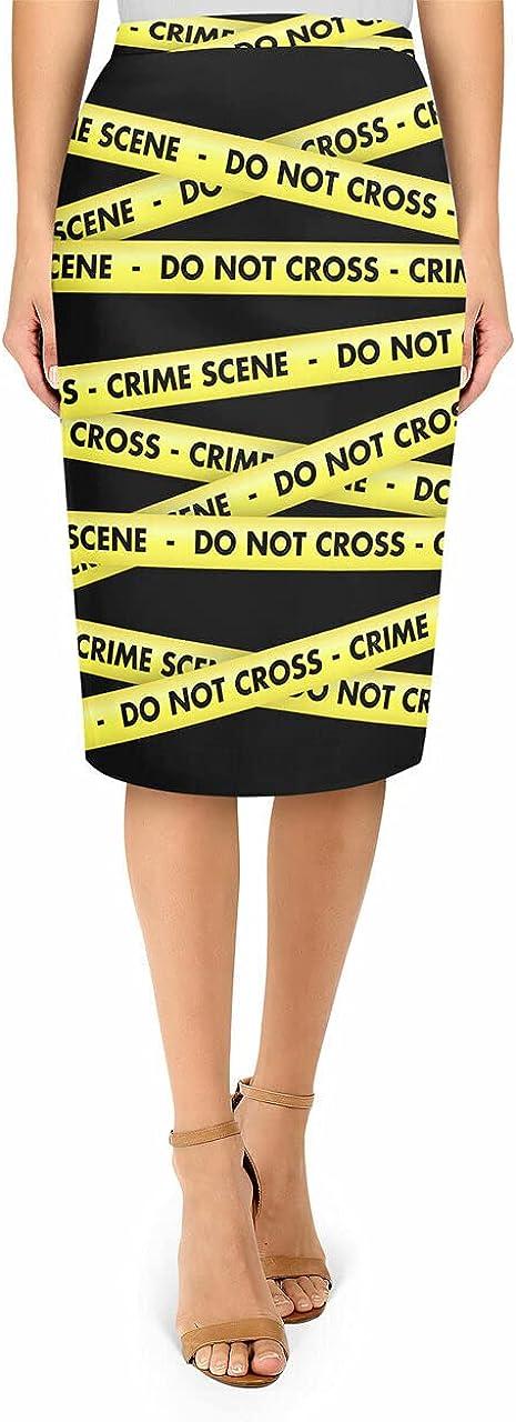 Midi Pencil 5 Mesa Mall popular Skirt - Tape Scene Crime