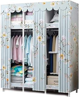 HWG Armoire Tissu Armoire Penderie Facile à Assembler, étanche, pour Vêtements, Chaussures, Chambre à Coucher,A