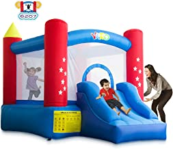 YARD Outdoor Indoor Bounce House with Slide Blower for Kids 6207 Extra Thick Material 420D Nylon Jump Castle