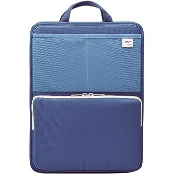 リヒトラブ バッグインバッグ スタンドポケット A4 タテ ブルー A7668-8