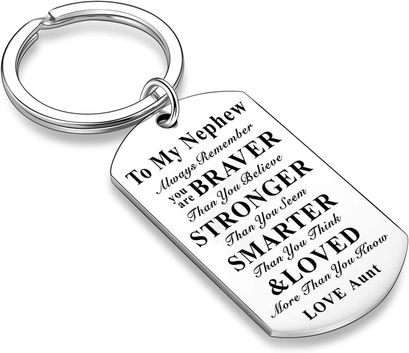 to My Niece Nephew Keychain Inspirational Key Chain for Niece from Aunt and Uncle