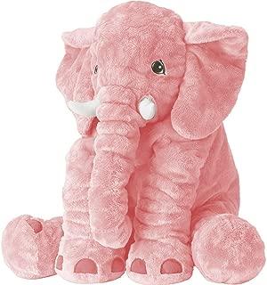XMWEALTHY Unisex Baby Elephant Plush Doll Cute Large Size Stuffed Animal Plush Toy Doll Gifts for Girls Boys Pink
