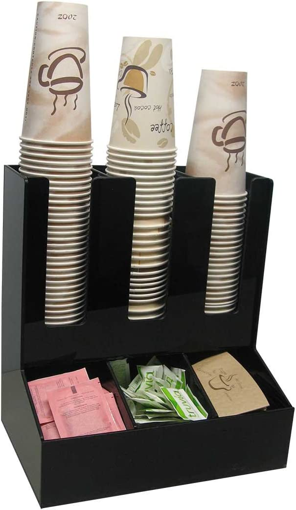3 Recommended Cash special price Wide Condiment and Coffee Stirrer Dispenser Lid Cup Sugar