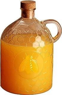 Circleware 06786 Honey Bee Glass Jug, 2 liter, Clear