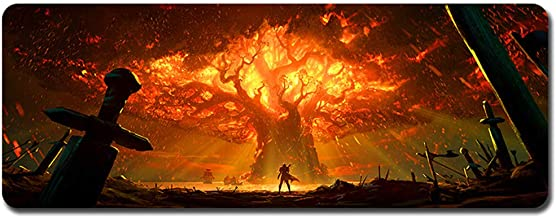 Mouse Pad,Professional Large Gaming Mouse Pad, World of Warcraft Mouse Pad,Extended Size Desk Mat Non-Slip Rubber Mouse Mat (9, 800 x 300 x3 mm / 31.5 x 11.8 x 0.12 inch)